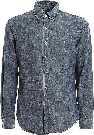 Camisa Ralph Lauren Chambray Slim Fit Indigo Hombre: Amazon.es: Ropa y accesorios