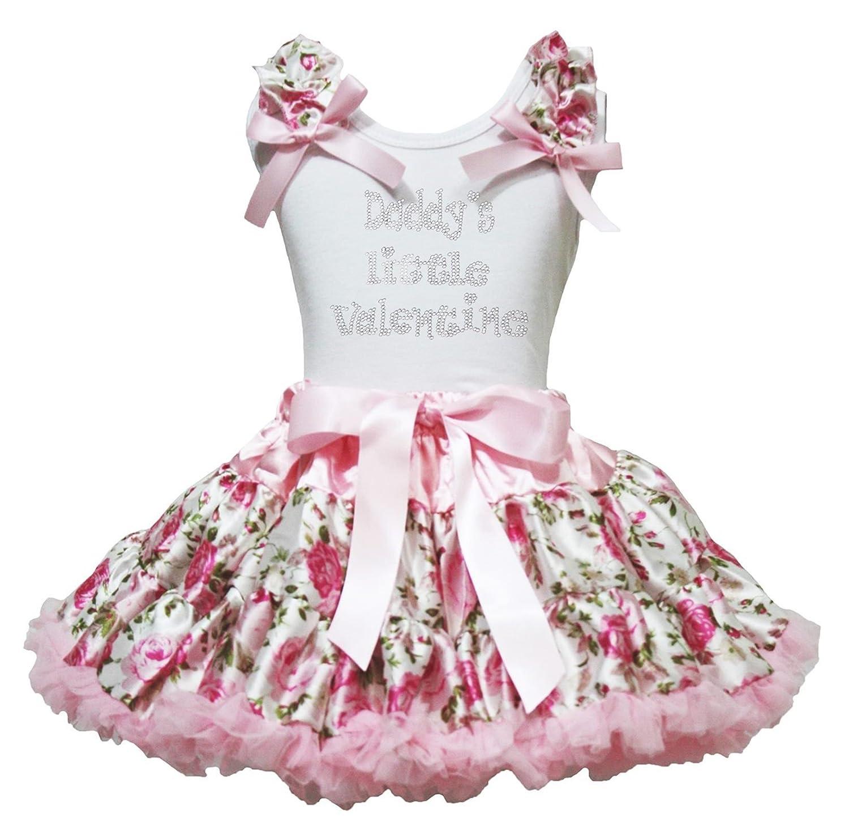 Daddy's Little Saint Valentin robe blanc en coton pour homme Motif floral Rose Jupe de 1–8Y
