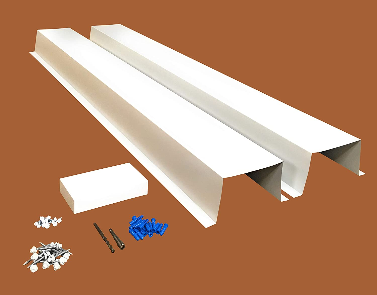 EAGLE 1 Metal Line Set Cover Kit for Mini Split and Central Air Conditioner & Heat Pump (White)