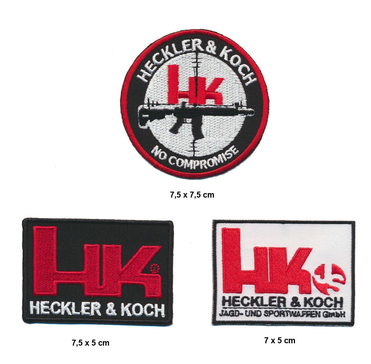 Heckler piano toppa Patches 3pezzi armi pistole Fucili Turbo spedizione Royal Garment