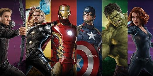 Marvel Avengers Team Cotton Beach Bath Towel 70 X 140cm Infinity War Amazon Co Uk Kitchen Home