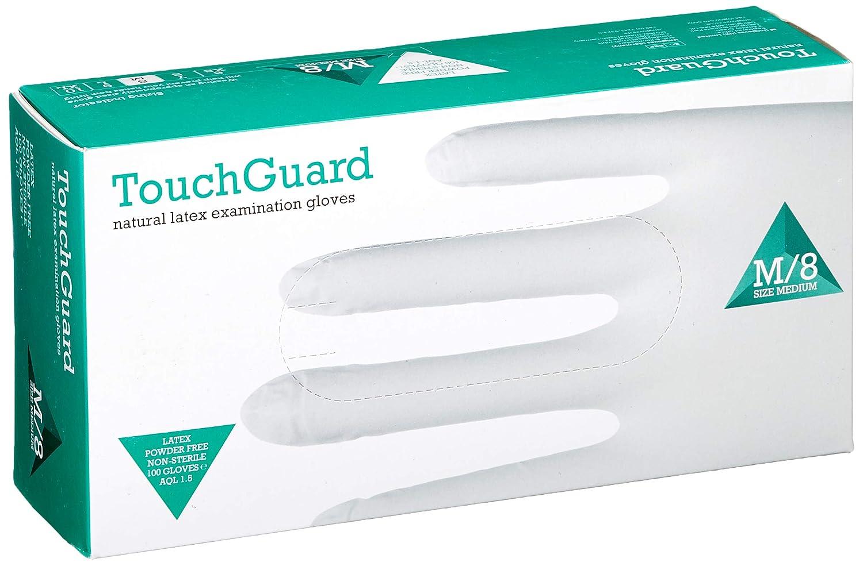 peque/ños TouchGuard Guantes de l/átex natural desechables sin polvos caja de 100 unidades