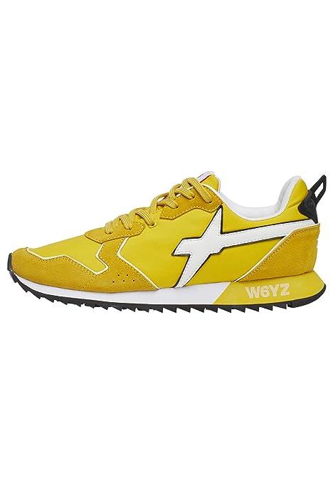 554343f05ad3 w6yz Jet-M.-Sneakers in Pelle e Nylon Giallo 42: Amazon.it: Scarpe e borse