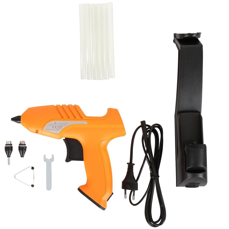 Pistola de Encolar de Pl/ástico 500 W Potencia aprox Pistola de Pegar Pistola Inal/ámbrica 2 Funciones Timbertech Pistola termofusible Color Negro