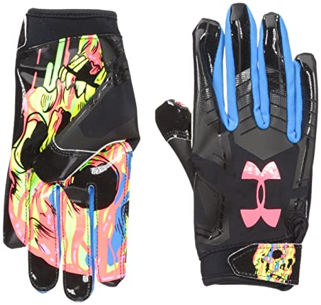 Amazon Com Under Armour Boys F6 Le Football Gloves Black 001