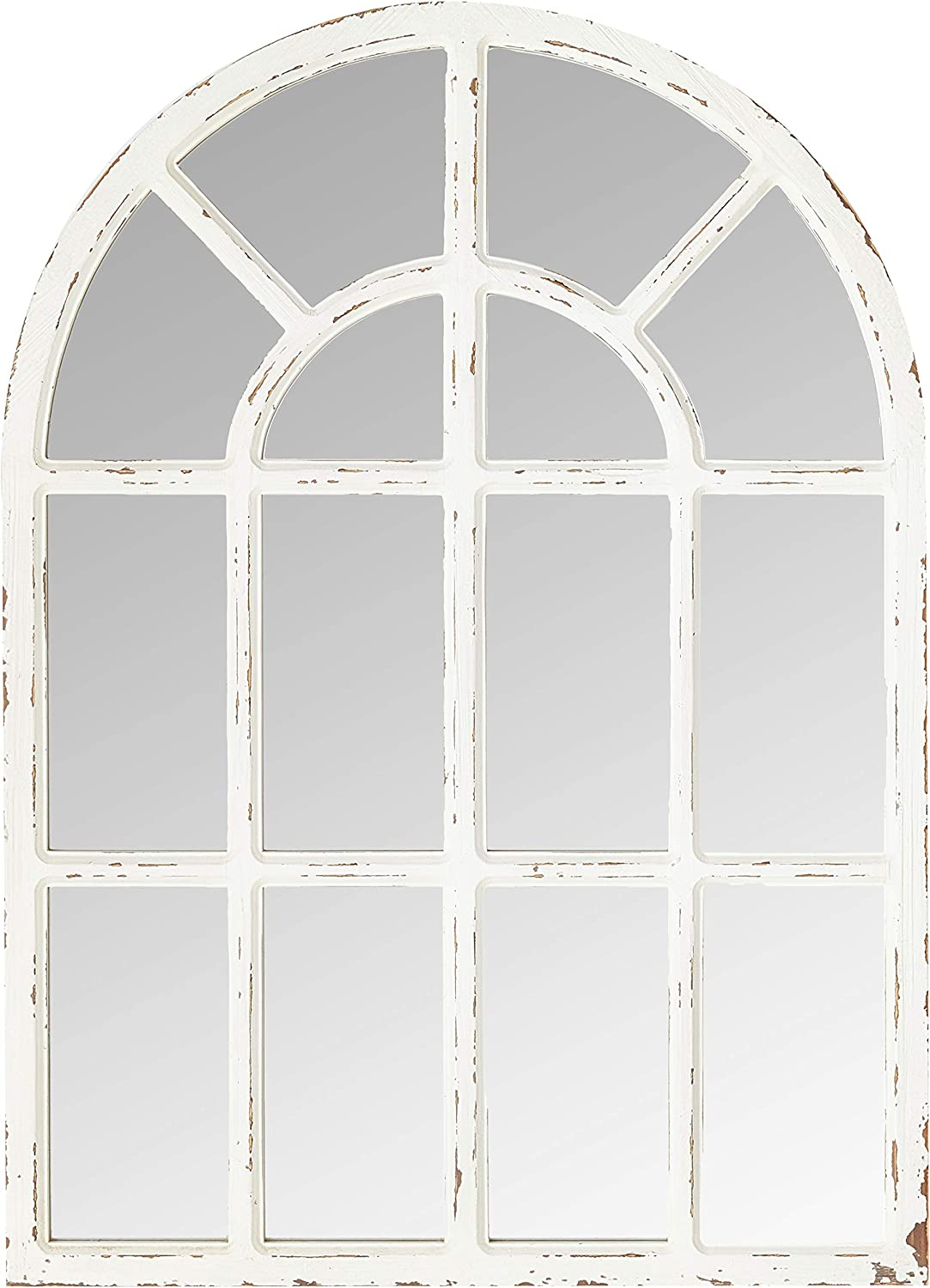 Stone & Beam Vintage Farmhouse Wooden Arched Mantel Mirror, 36.25