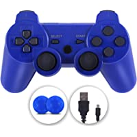 PS3 Controller, Wireless Controller Double Vibration Gamepad Compatible with Playstation 3, Controller with Charging…