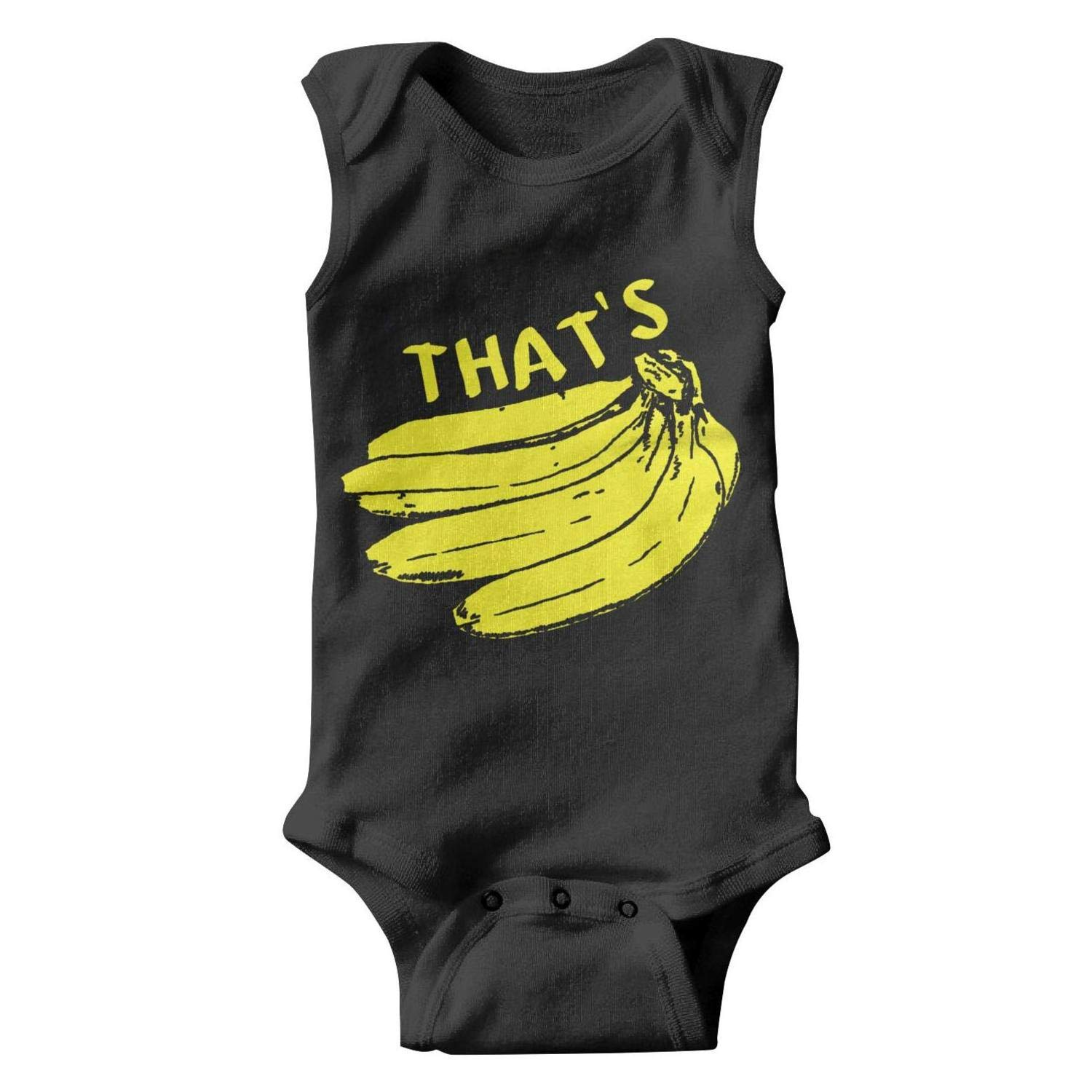 Thats Bananas Funny Monkey Baby Onesie Sleeveless Organic Cotton Bodysuits Set for Unisex Boys Girls