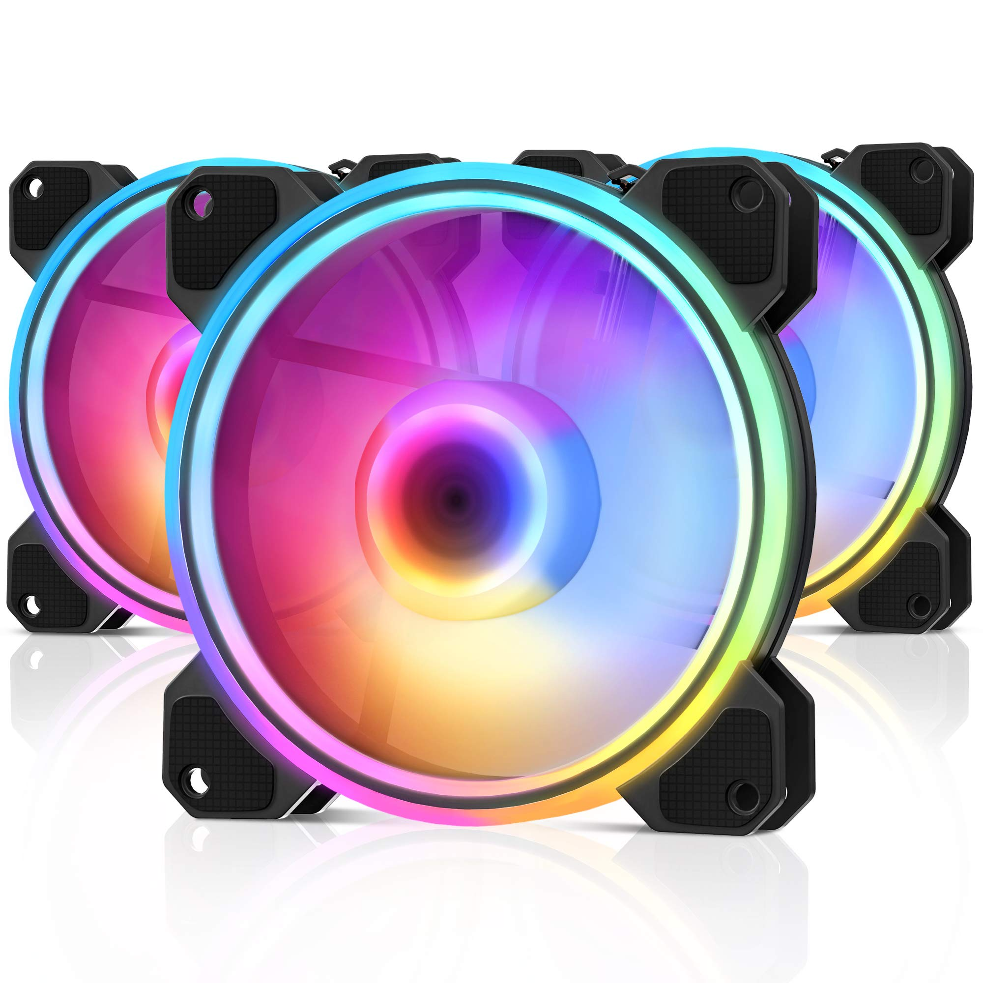 RGB PWN Case Fan Beexcellent 3-Pack High Performance PC Fan with Air