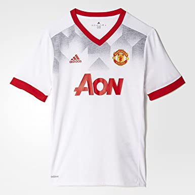 c8f795499 Image Unavailable. Image not available for. Color  adidas MUFC Home Pre-Match  Shirt Jersey Men s Small White Red