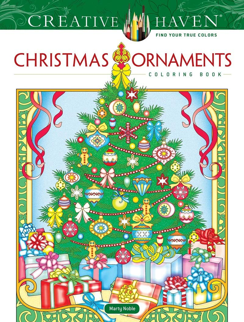 Amazon.com: Creative Haven Christmas Ornaments Coloring Book