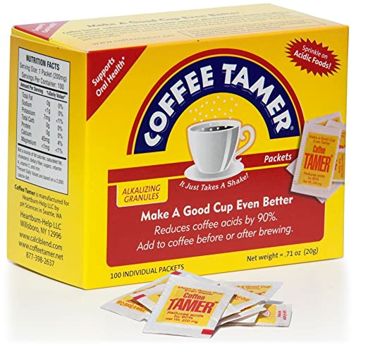 Coffee Tamer 100ct 200mg Packets- Acid Reducing Granules
