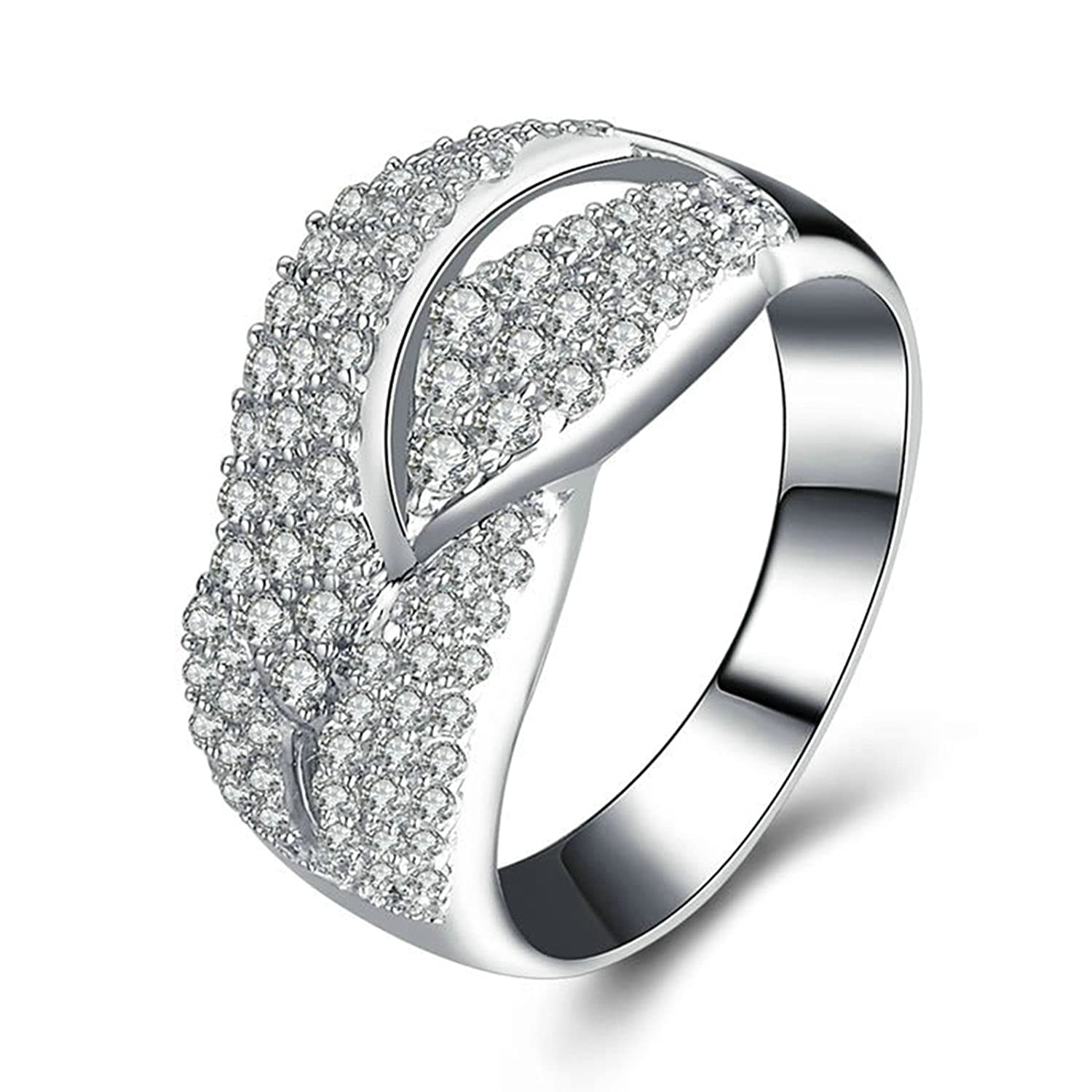 Amazon Aooaz Jewelry Wedding Ring Silver Material Irregular For Bride Bands: Wedding Bands For The Bride At Reisefeber.org