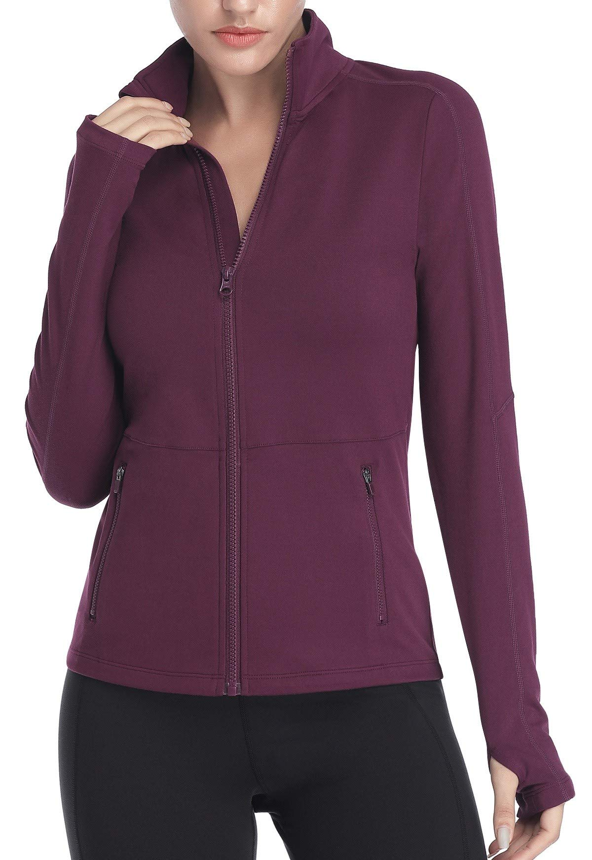VUTRU Women's Workout Yoga Jacket Full Zip Running Track Jacket by VUTRU