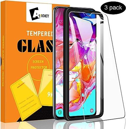 A-VIDET [3 Unidades Protector Pantalla Samsung Galaxy A70,Cristal ...