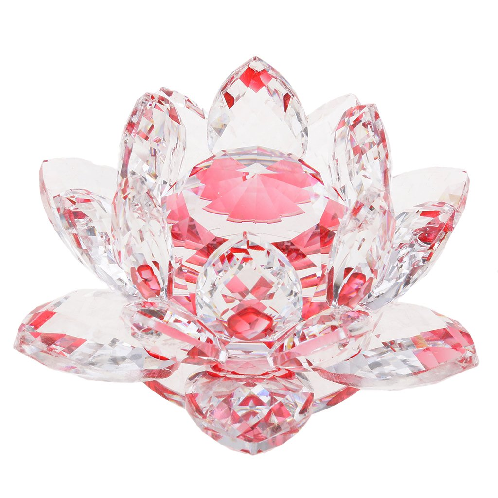 Buy Baoblae Buddhist Crystal Lotus Flower Figure Feng Shui Tabletop