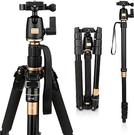 AFAITH Profesional Trípode con rotula de magnesio cámara de aleación de aluminio trípode Monopod y 360 rotula para cámara SLR Canon, Nikon, Sony Pentax trípode AF001: Amazon.es: Electrónica