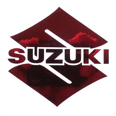 ! Suzuki S Rouge Chrome Moto Stickers Stickers Graphique GSXR X 2Pièces