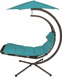 vivere original dream chair true turquoise amazon     vivere original dream chair real olive   patio      rh   amazon