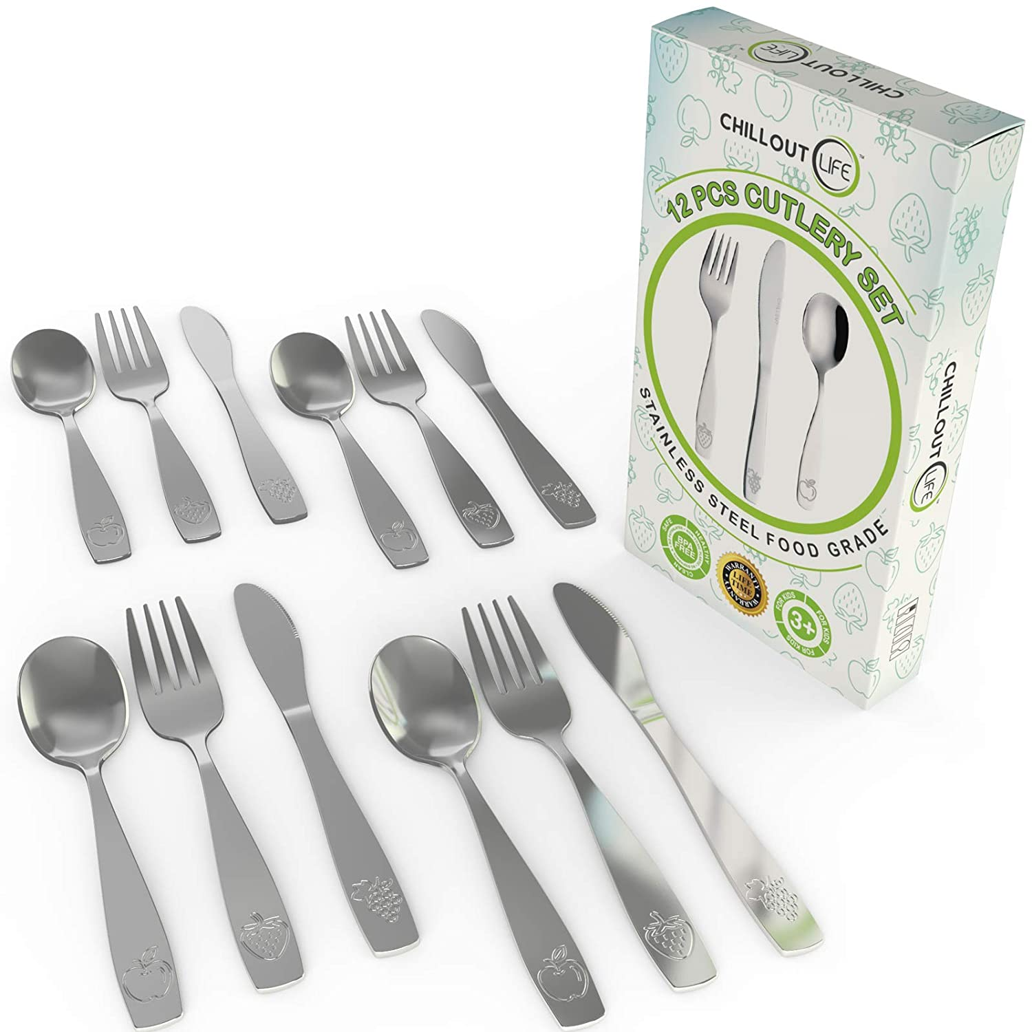 Stainless Steel Kids' Silverware Set