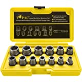 Topec Impact Bolt & Nut Remover Set 13+1 Pieces, Nut Extractor Socket, Bolt Remover Tool Set with Hex Adapter