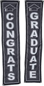 Fun Express Graduation Pillar Buntings - Home Decor - 2 Pieces