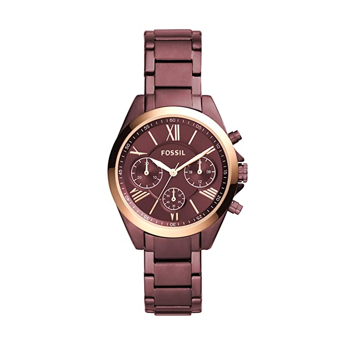 Amazon.com: Fossil Womens Modern Courier Stainless Steel Chronograph Dress Quartz Watch: Watches