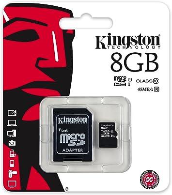 Kingston Sdc10g2 8gb Microsd Klasse 10 Bis Zu 45mb Computer Zubehör