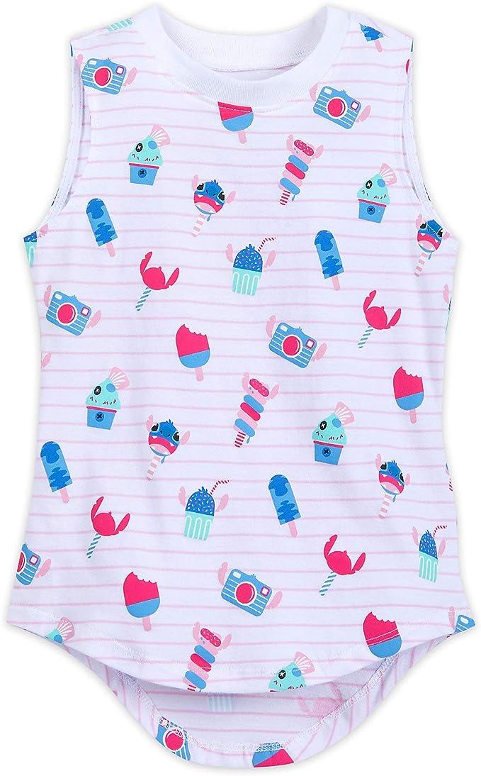 New Disney Lilo /& Stitch Ohana Means Family Plaid Girls Woven Top Shirt Junior S