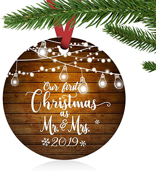 Personalised Magic Of Christmas Glass Heart Ornament Tree Decoration Engraved