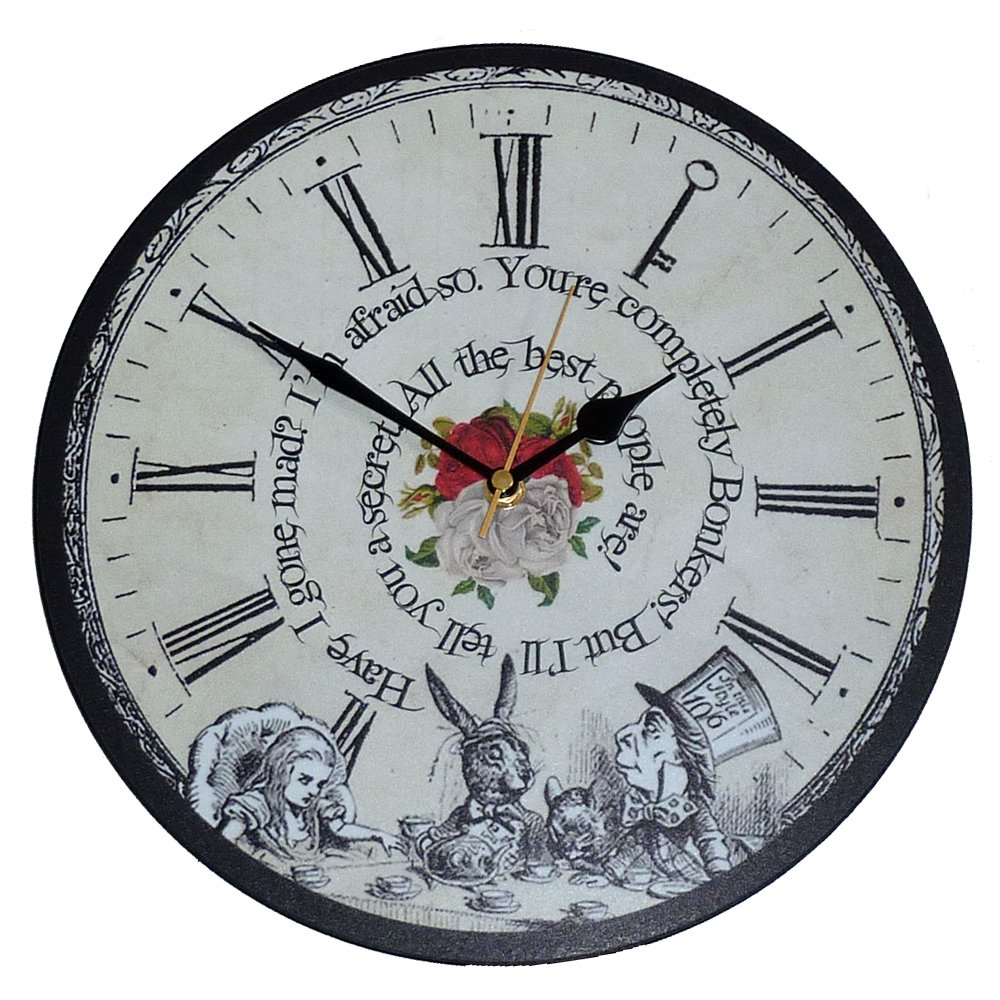 Alice In Wonderland The Mad Hatters Tea Party Wall Clock Elven Chronicle