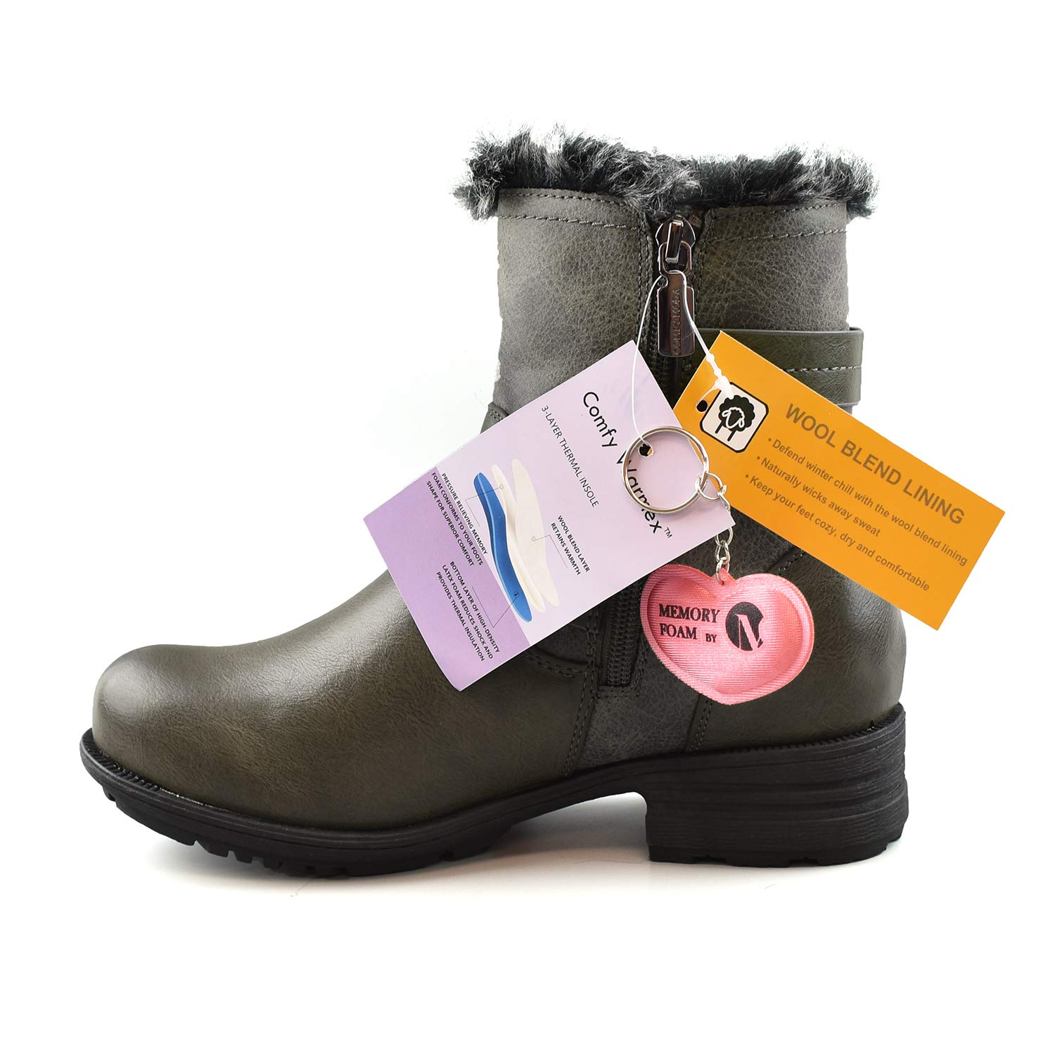 1930bd9a7542 Comfy Moda Womens Winter Boots 3M™ Thinsulate™ Memory Foam Super Warm Comfy  Wide Fitting