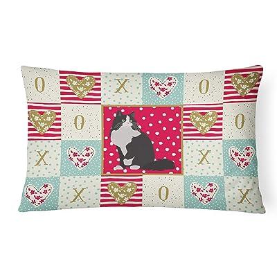 Caroline's Treasures CK5781PW1216 Ragamuffin Cat Love Canvas Fabric Decorative Pillow, 12H x16W, Multicolor : Garden & Outdoor