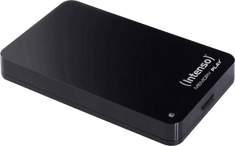 Intenso Memory Play - Disco Duro portátil para TV (2 TB, 2,5 Pulgadas, 5400 RPM, caché de 8 MB, USB 3.0, Incluye Soporte para televisor), Color Negro