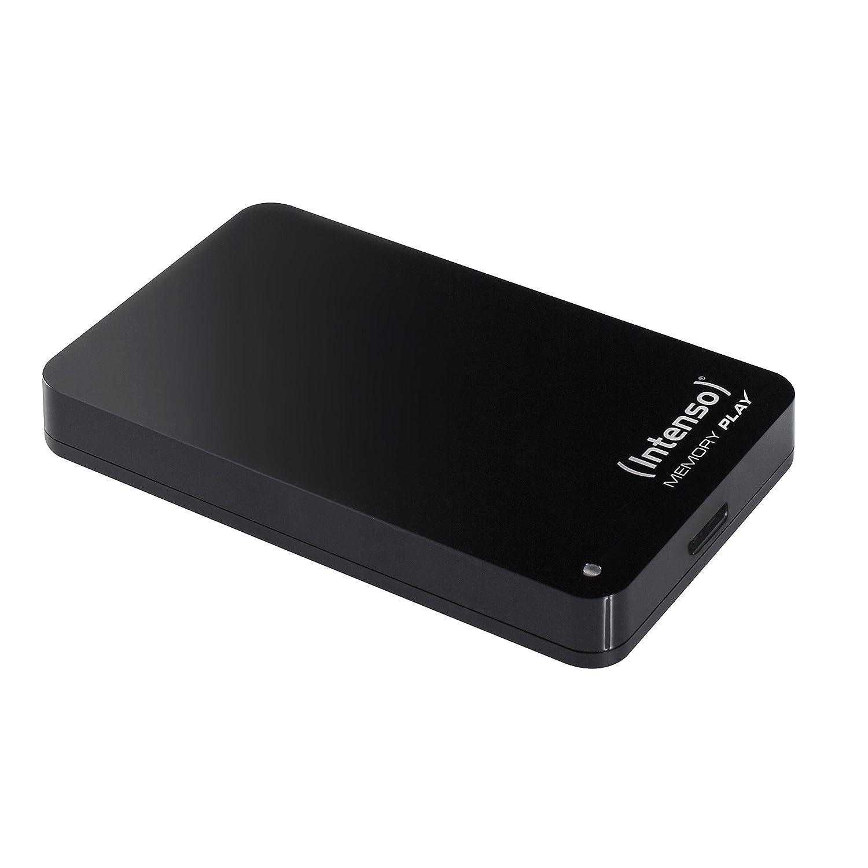 Intenso Memory Play 1TB externe TV-Festplatte (6,35 cm (2,5 Zoll), 5400rpm, 8MB Cache, USB 3.0) inkl. TV-Halterung schwarz 6021460