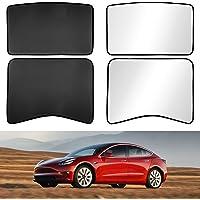 2021 Tesla Model 3 Accessories Glass Roof Sunshade Sunroof Rear Window Sunshade Compatible for Tesla Model 3 Sunshade…
