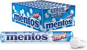 Mentos Mint Candy Roll, 40 Rolls, Minty Freshness and Enjoyable Chew, 40 x 37.5g
