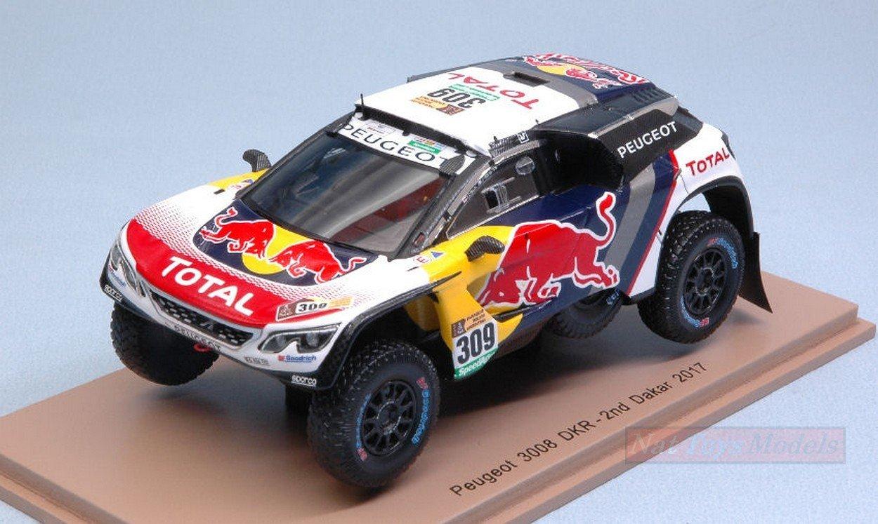 Spark Model S5610 Peugeot 3008 DKR N.309 2nd Dakar 2017 S.LOEB-D.Elena 1:43 NEW