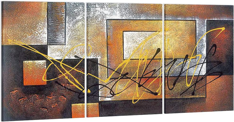 Pyradecor Modern 3 Panels Large Modern Gallery Wrapped Contemporary Giclee Canvas Prints Abstract Landscape Pictures Paintings on Canvas Wall Art for Living Room Bedroom Kitchen Home Decorations