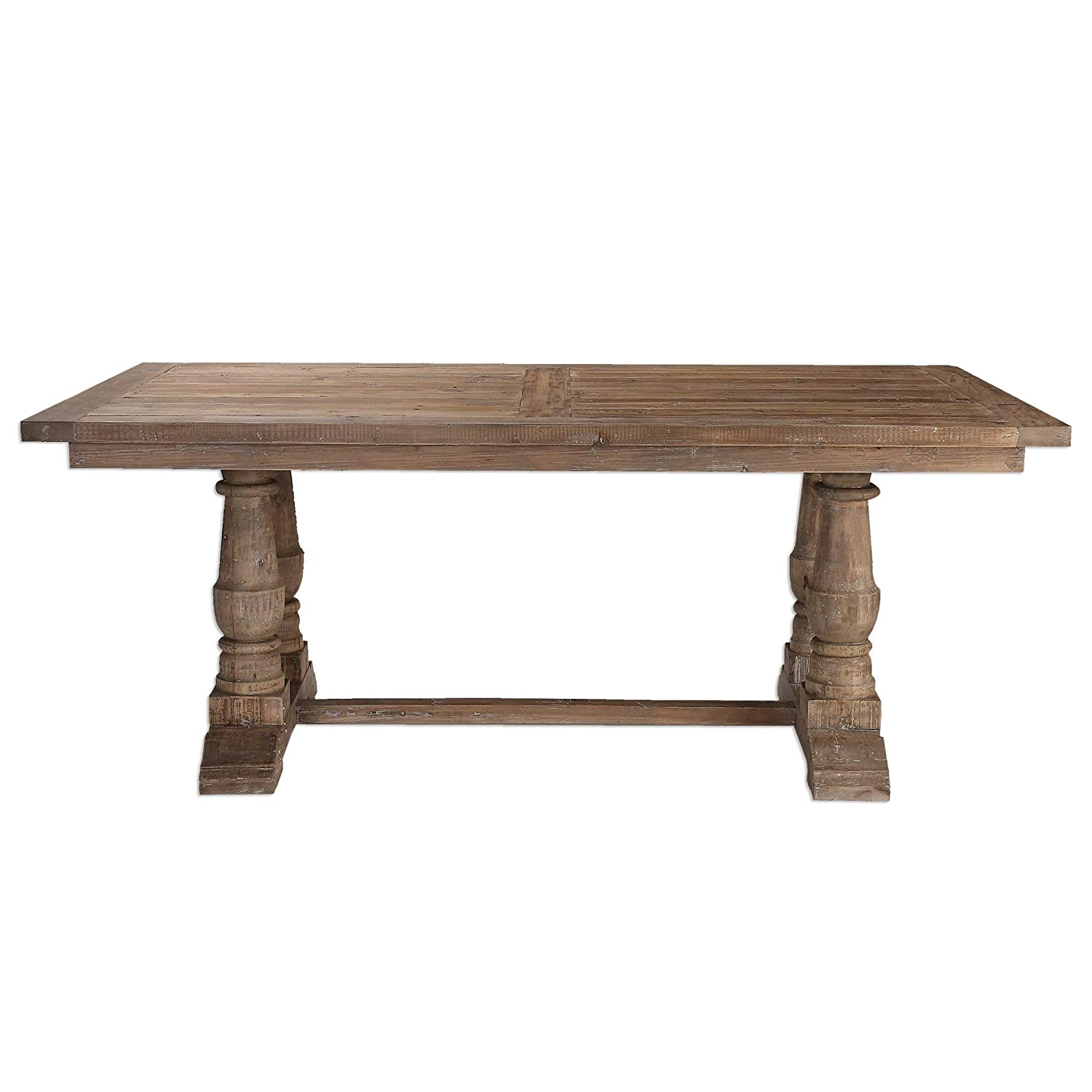 Uttermost Stratford Salvaged Wood Dining Table, Brown