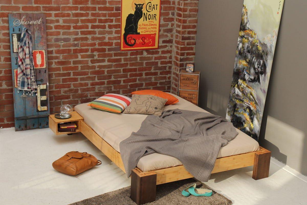 Havana Bamboo Bed 140 X 200 Cm Height 30 Cm Without Back Rest Amazon De Kuche Haushalt