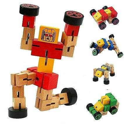 amazon com kids toy baztoy cool wooden transformer toy vehicle rh amazon com