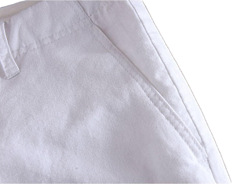 Hombre Leoclotho Pantalon De Lino Para Hombre Comodos Largo Pantalones Lino Sueltos De Playa Con Bolsillos Laterales Ropa Leitingcuisine Com