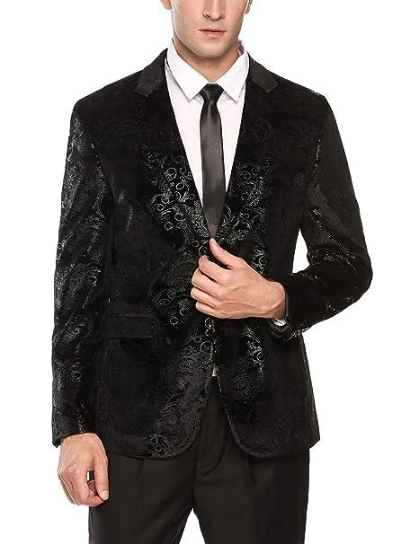 Amazon.com: COOFANDY - Chaqueta para hombre, diseño floral ...