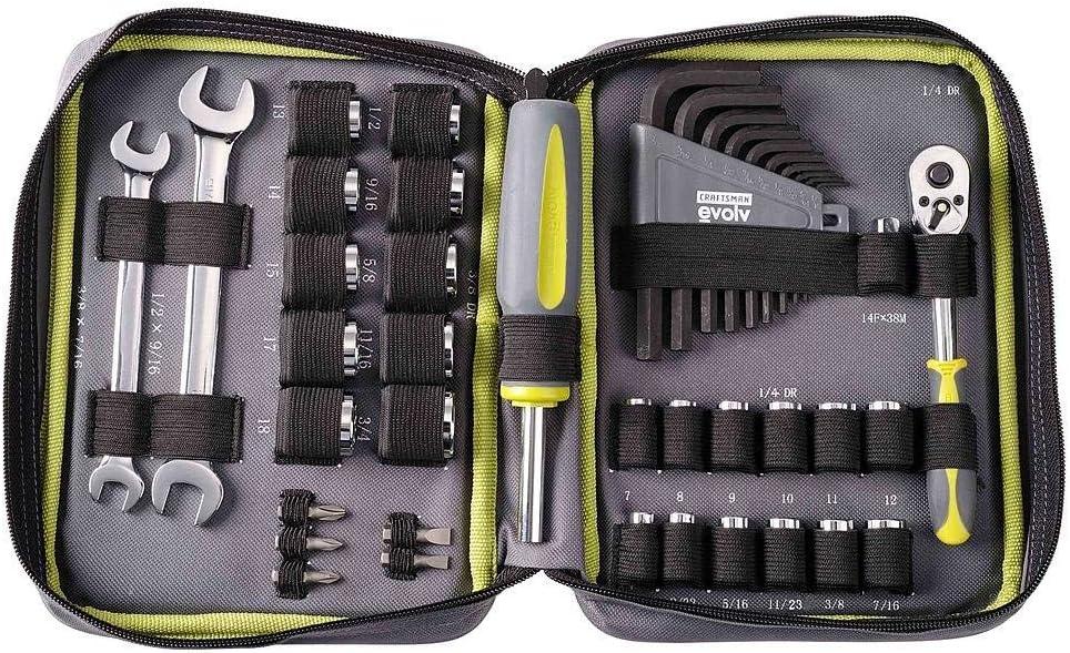 Craftsman Evolv - Juego de herramientas con cremallera (42 piezas): Amazon.es: Bricolaje y herramientas