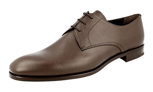 Men's 2EC068 053 F0201 Saffiano Leather Business Shoes