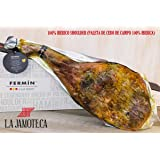 100% Iberico Ham Leg Cured for 24 Months, Between 20-25 Servings, 10-12 lbs from Fermin (Paleta de cebo de campo 100% Iberica)