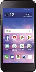 Simple Mobile SMLML211BGP5 LG Rebel 4 4G LTE Prepaid Smartphone (Locked) - Black - 16GB - Sim Card Included - GSM