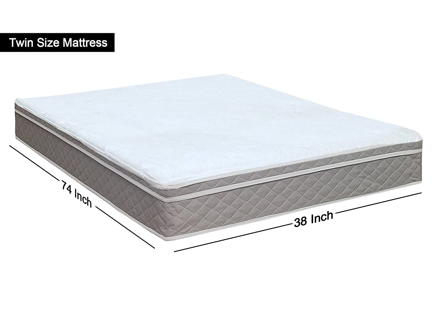 Tomorrow Dream Collection Mattress Comfort 440z-3//3-2 10-inch Fully Assembled Orthopedic Back Support Plush Mattress And 8 Box Spring//Foundation Set Beige Color Size Twin