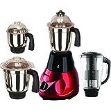 Sunmeet Black-Red Color 550Watts Mixer Juicer Grinder with 4 Jar (1 Juicer Jar with filter, 1 Large Jar, 1 Medium Jar and 1 Chuntey Jar)-01